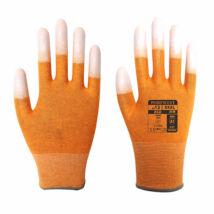 A198 - ESD ujjvég bevont védőkesztyű - Narancs