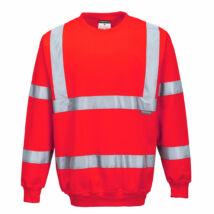 B303 - Jól láthatósági pulóver - Piros