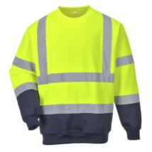 B306 - Hi-Vis kéttónusú pulóver - Sárga