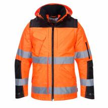 C469 - Hi-Vis 3in1 kabát - Narancs/Fekete