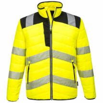 PW371 - PW3 Hi-Vis Baffle kabát - Sárga/Fekete