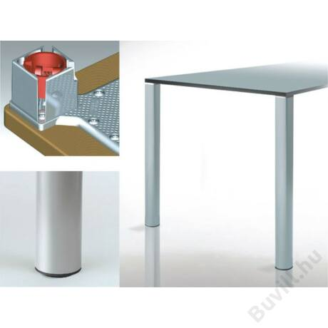 618 Quadratona 710mm Asztalláb garnitúra Ø50mm alumínium  10001508600