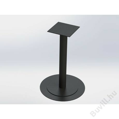 FM01 Kör dupla talpas Bisztró asztalláb 725mm RAL9005 fekete10001521511 - 00001521511