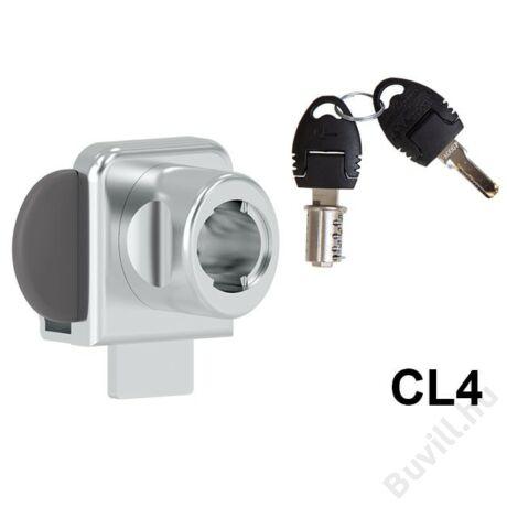 625-CL4 Kétajtós furás nélküli üvegajtózár+zárlemez10003232110 - 00003232110