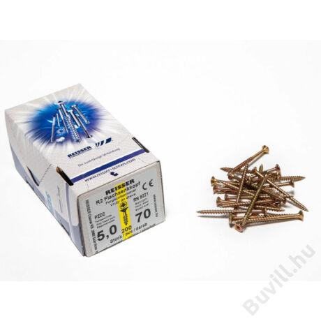 Reisser facsavar 5x70mm Sárgított acél részmenetes 200db/doboz10007111525 - 00007111525