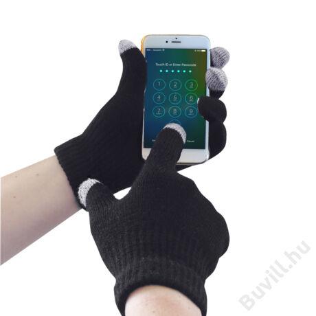 GL16 - Touchscreen kötött kesztyű  - Fekete - PW-GL16BKR