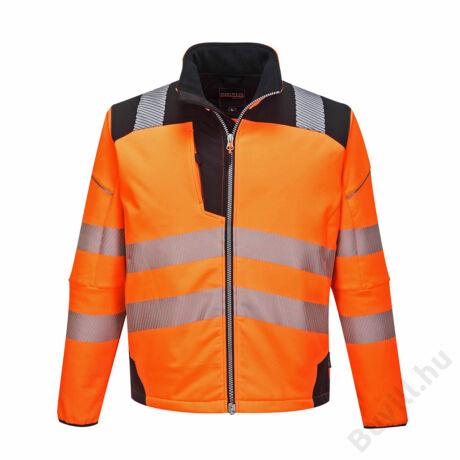 T402 - Vision Hi-Vis softshell kabát - Narancs/Fekete - PW-T402OBR